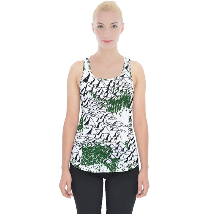 Montains Hills Green Forests Piece Up Tank Top