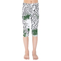 Montains Hills Green Forests Kids  Capri Leggings