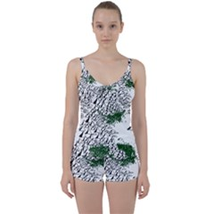 Montains Hills Green Forests Tie Front Two Piece Tankini by Alisyart