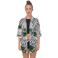 Montains Hills Green Forests Open Front Chiffon Kimono by Alisyart