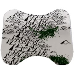 Montains Hills Green Forests Head Support Cushion by Alisyart
