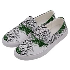 Montains Hills Green Forests Men s Canvas Slip Ons by Alisyart
