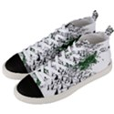 Montains Hills Green Forests Men s Mid-Top Canvas Sneakers View2