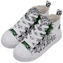 Montains Hills Green Forests Kid s Mid-Top Canvas Sneakers View2