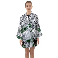 Montains Hills Green Forests Long Sleeve Kimono Robe