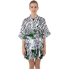 Montains Hills Green Forests Quarter Sleeve Kimono Robe