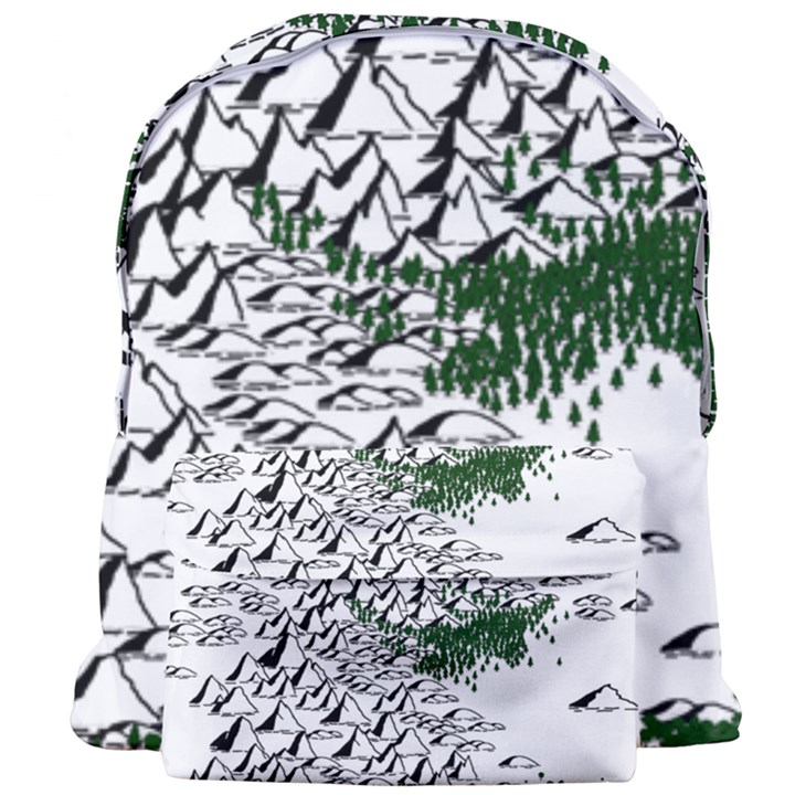 Montains Hills Green Forests Giant Full Print Backpack