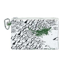 Montains Hills Green Forests Canvas Cosmetic Bag (medium)