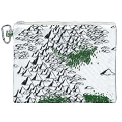 Montains Hills Green Forests Canvas Cosmetic Bag (xxl) by Alisyart