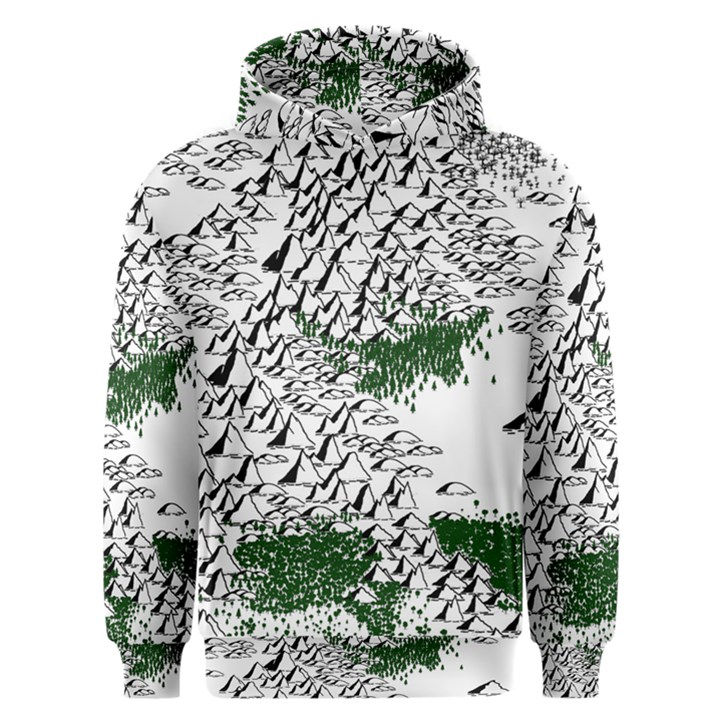 Montains Hills Green Forests Men s Overhead Hoodie