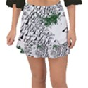 Montains Hills Green Forests Fishtail Mini Chiffon Skirt View1