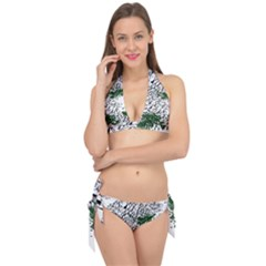 Montains Hills Green Forests Tie It Up Bikini Set