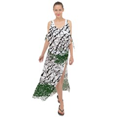 Montains Hills Green Forests Maxi Chiffon Cover Up Dress
