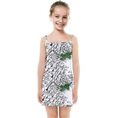 Montains Hills Green Forests Kids Summer Sun Dress