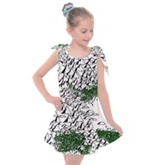 Montains Hills Green Forests Kids  Tie Up Tunic Dress