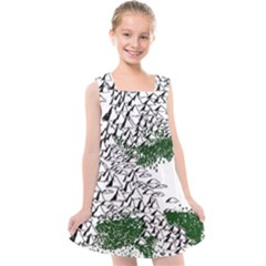 Montains Hills Green Forests Kids  Cross Back Dress by Alisyart