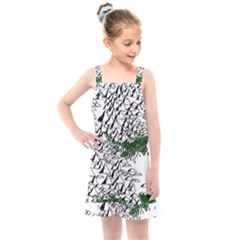 Montains Hills Green Forests Kids  Overall Dress