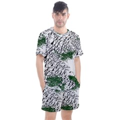 Montains Hills Green Forests Men s Mesh Tee And Shorts Set