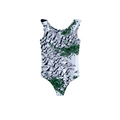 Montains Hills Green Forests Kids  Frill Swimsuit