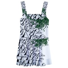 Montains Hills Green Forests Kids  Layered Skirt Swimsuit