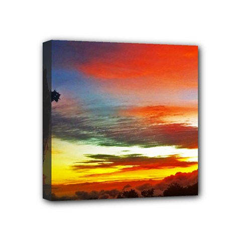 Sunset Mountain Indonesia Adventure Mini Canvas 4  x 4  (Stretched)