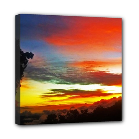 Sunset Mountain Indonesia Adventure Mini Canvas 8  x 8  (Stretched)