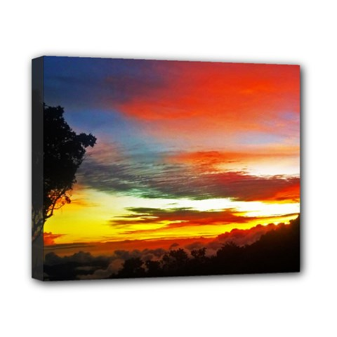 Sunset Mountain Indonesia Adventure Canvas 10  x 8  (Stretched)