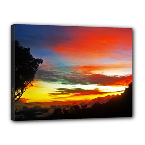 Sunset Mountain Indonesia Adventure Canvas 16  X 12  (stretched)