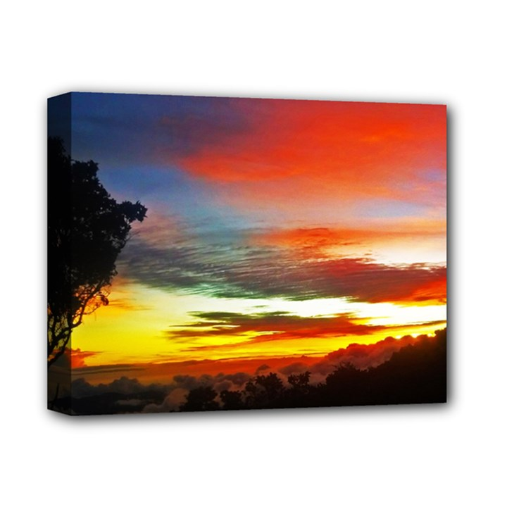 Sunset Mountain Indonesia Adventure Deluxe Canvas 14  x 11  (Stretched)