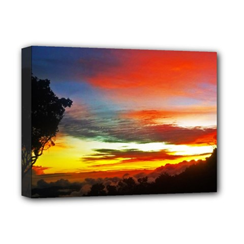 Sunset Mountain Indonesia Adventure Deluxe Canvas 16  x 12  (Stretched)