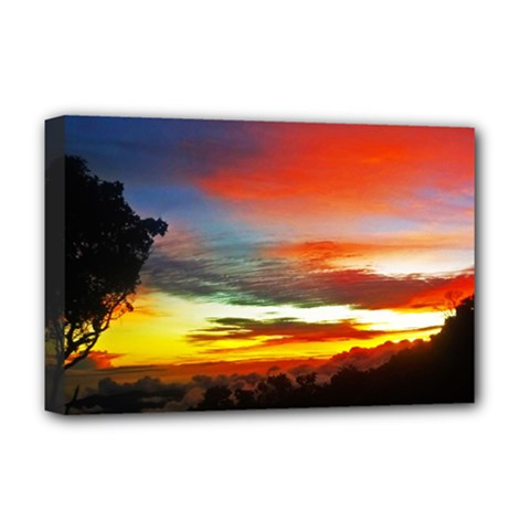 Sunset Mountain Indonesia Adventure Deluxe Canvas 18  x 12  (Stretched)