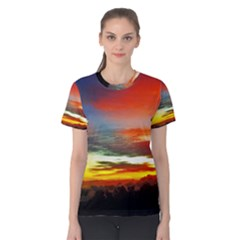 Sunset Mountain Indonesia Adventure Women s Cotton Tee