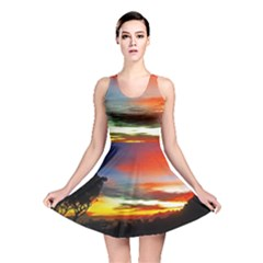 Sunset Mountain Indonesia Adventure Reversible Skater Dress