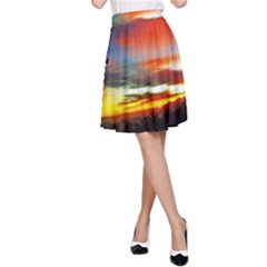 Sunset Mountain Indonesia Adventure A-Line Skirt