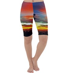 Sunset Mountain Indonesia Adventure Cropped Leggings