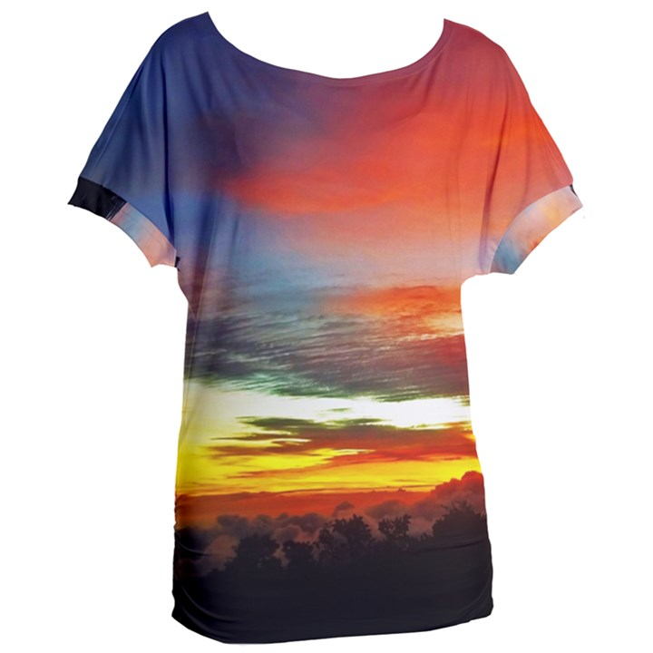 Sunset Mountain Indonesia Adventure Women s Oversized Tee