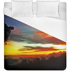 Sunset Mountain Indonesia Adventure Duvet Cover (King Size)