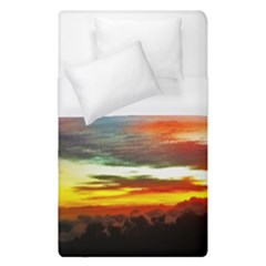Sunset Mountain Indonesia Adventure Duvet Cover (single Size) by Nexatart