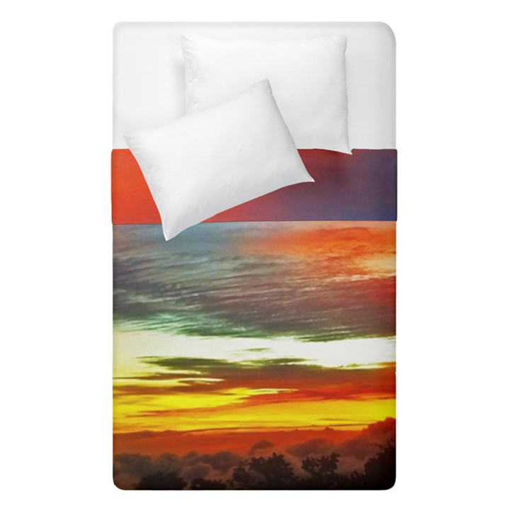 Sunset Mountain Indonesia Adventure Duvet Cover Double Side (Single Size)