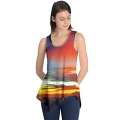 Sunset Mountain Indonesia Adventure Sleeveless Tunic