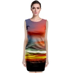 Sunset Mountain Indonesia Adventure Classic Sleeveless Midi Dress