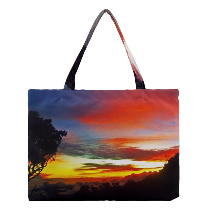 Sunset Mountain Indonesia Adventure Medium Tote Bag