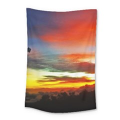 Sunset Mountain Indonesia Adventure Small Tapestry