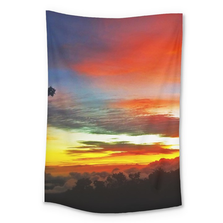Sunset Mountain Indonesia Adventure Large Tapestry