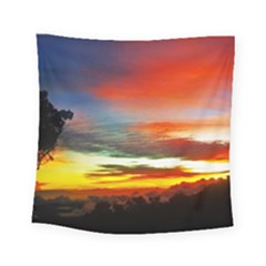 Sunset Mountain Indonesia Adventure Square Tapestry (Small)