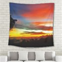 Sunset Mountain Indonesia Adventure Square Tapestry (Large) View2