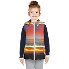 Sunset Mountain Indonesia Adventure Kid s Hooded Puffer Vest