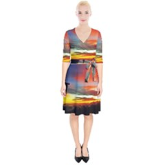 Sunset Mountain Indonesia Adventure Wrap Up Cocktail Dress
