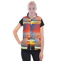 Sunset Mountain Indonesia Adventure Women s Button Up Vest