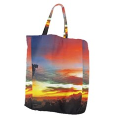 Sunset Mountain Indonesia Adventure Giant Grocery Tote